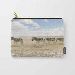 Zebra on African Savannah Carry-All Pouch