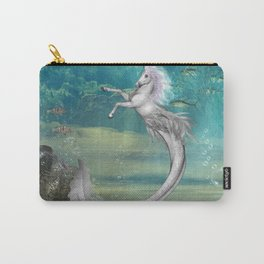 Awesome seahorse in the deep ocean Carry-All Pouch