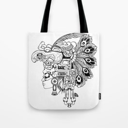 Mayan Warrior Tote Bag