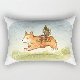 Faery mount Corgi Rectangular Pillow