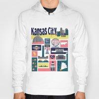 kansas Hoodies featuring Kansas City by cwassmer