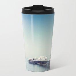 Blackpool pier and coast on a sunny July morning. Travel Mug