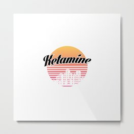 Ketamine drug | retro vintage art work Metal Print