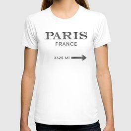 black watercolor paris france T-shirt