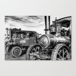 Steam Lorry And Traction Engine Canvas Print