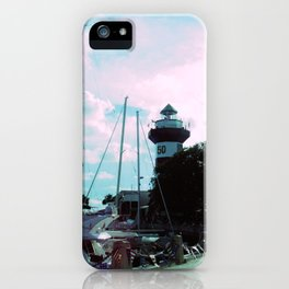 A Busy Harbour iPhone Case