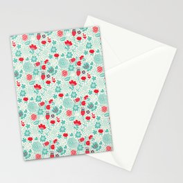 Floral owls Stationery Cards