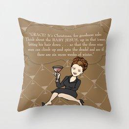Karen Walker on Christmas . . . Throw Pillow