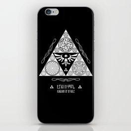Legend of Zelda Kingdom of Hyrule Crest Letterpress Vector Art iPhone Skin