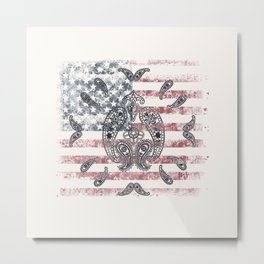Paisley Americana Metal Print