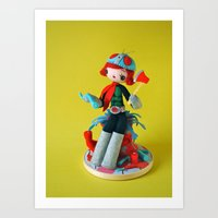 She Makes Mincemeat Out of Her Enemies (Kamen Rider Girl) Art Print
