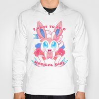 magical girl Hoodies featuring Magical Girl Sylveon by Anjila