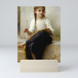 "William-Adolphe Bouguereau ""Sewing"" Mini Art Print"
