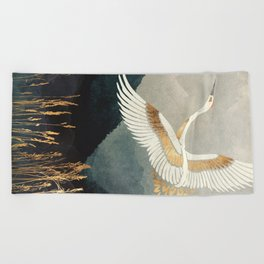 Elegant Flight Beach Towel