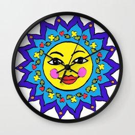 Mayan Sunshine Girl by Amanda Martinson Wall Clock