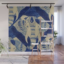 Elephant Doodle #1 Wall Mural