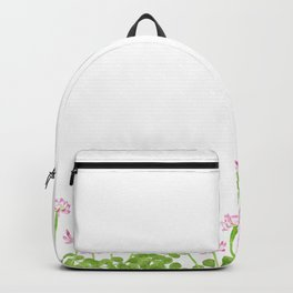 Watercolor Chinese milk vetch flowers Backpack