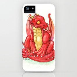 Red Dragon Hatchling iPhone Case