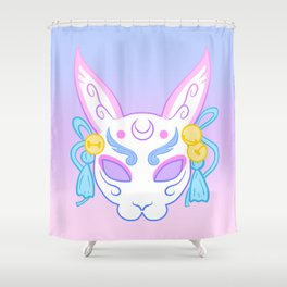 Usagi Mask (pastel) Shower Curtain