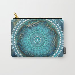 Aqua Cloud Mandala Carry-All Pouch