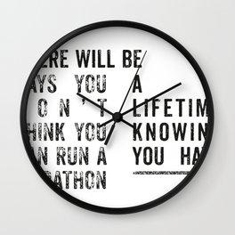 Run a Marathon Wall Clock
