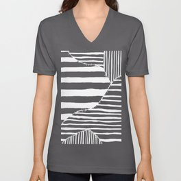 Stripes & Stitches Unisex V-Neck