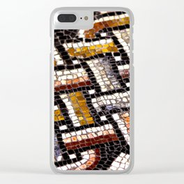 Roman Geometric Squares Tile Mosaic Pattern Clear iPhone Case