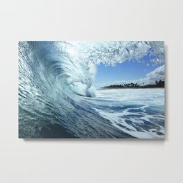 Surf Photography:Add water Metal Print