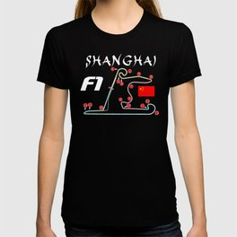Shanghai F1 circuit (sans background) T-shirt