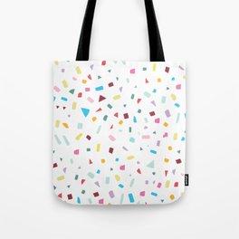 Rainbow Confetti Tote Bag