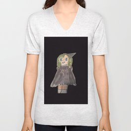 manga witch on hoodie and t-shirts and tank tops part of my DI Fashion Goth line Unisex V-Neck