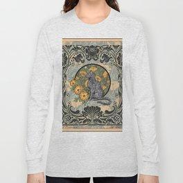 Cat Nouveau Long Sleeve T-shirt