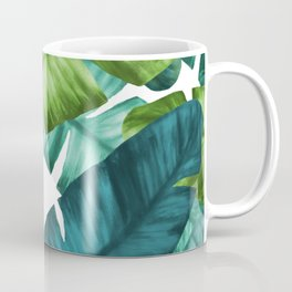 Tropical Banana Leaves Unique Pattern Coffee Mug
