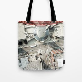 look down from calgary tower Tote Bag