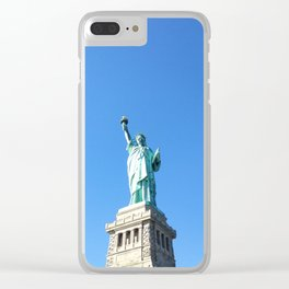 151. Liberty Girl, New York Clear iPhone Case