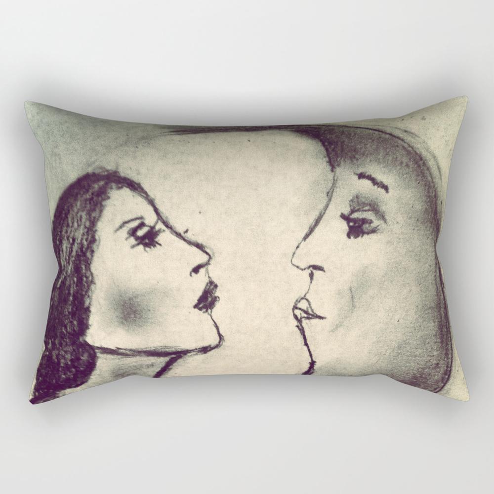 Woman In The Moon Rectangular Pillow RPW812878