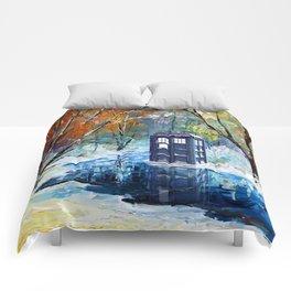 Starry Winter blue phone box Digital Art iPhone 4 4s 5 5c 6, pillow case, mugs and tshirt Comforters