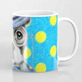Boston Terrier Polka Dot Coffee Mug