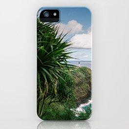 Kilauea Lighthouse Kauai Hawaii | Tropical Beach Nature Ocean Coastal Travel Photography Print iPhone Case