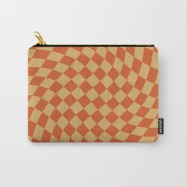 Orange Sunset Checker Carry-All Pouch