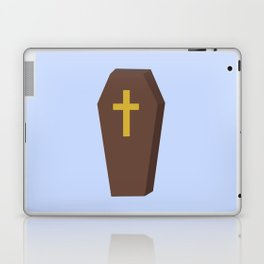 Halloween coffin with cross Laptop & iPad Skin