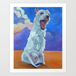 Special Needs Pippin Dog Portrait Art Print