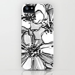 53/365 Black and White iPhone Case