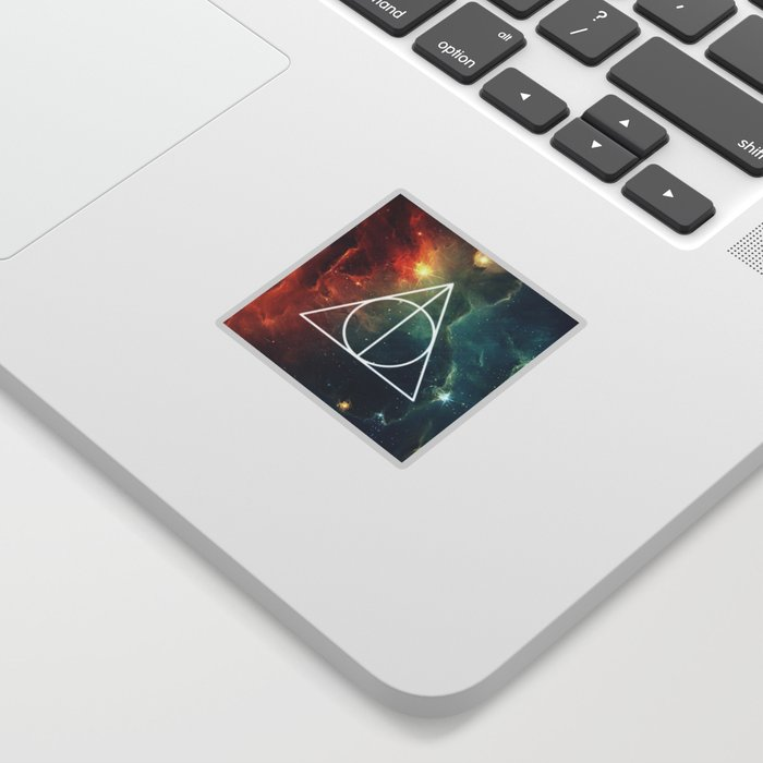 Deathly Hallows Nebula Hp Sticker By Cosmicspacemermaid Society6