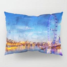 london-eye-ferris-wheel-london Pillow Sham