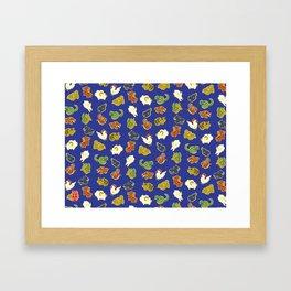 Cute animal pattern Framed Art Print