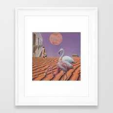 In the shadow of the blushing moon Framed Art Print