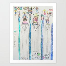 Kelly Bruneau #7 Art Print