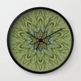 White pine kaleidoscope/mandala II Wall Clock