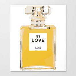 Fashion Perfume Bottle Canvas Print